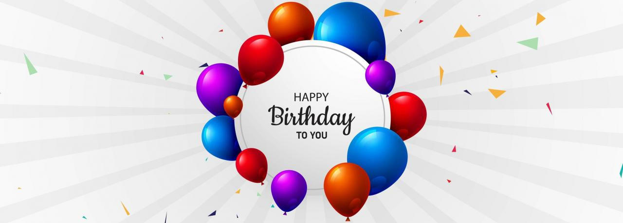 Birthday Background Banner with Colorful Balloons vector