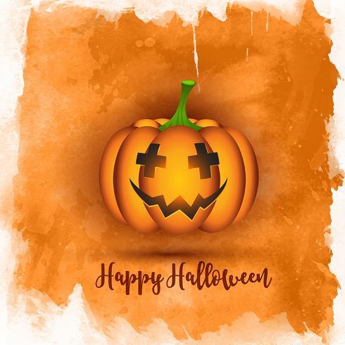 Watercolor Halloween background  vector